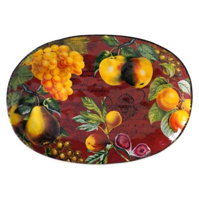 Certified International Botanical Fruit Oval Platter