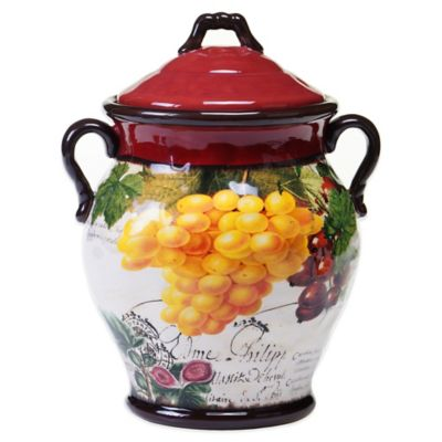 Certified International Botanical Fruit Biscotti Jar