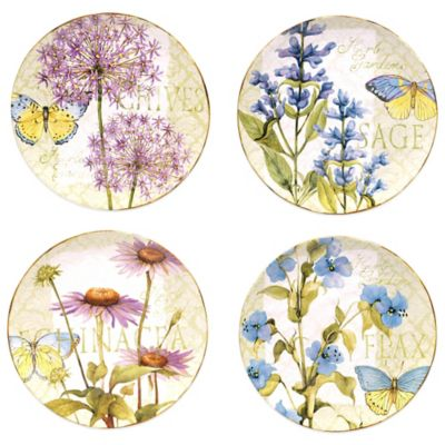 Certified International Herb Garden Dinner Plates (Set of 4)