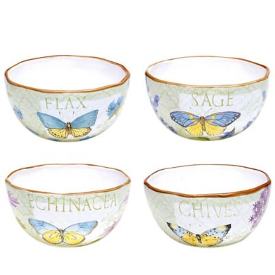Certified International Herb Garden Ice Cream Bowls (Set of 4)