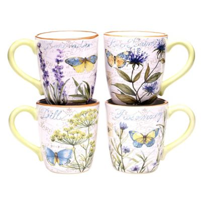 Certified International Herb Garden Mugs (Set of 4)