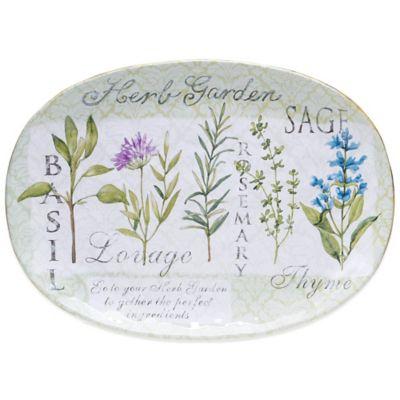 Certified International Herb Garden Oval Platter