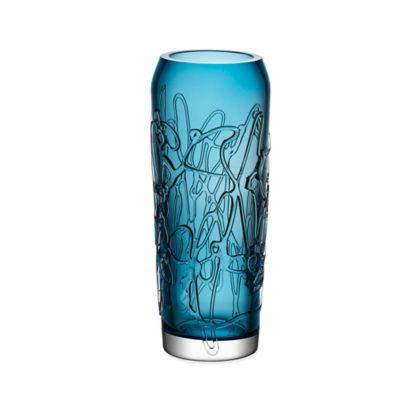 Kosta Boda Small Twine Vase in Blue