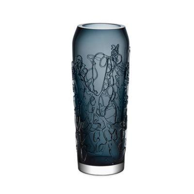 Kosta Boda Small Twine Vase in Grey