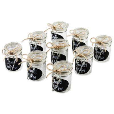 Ivy Lane Design Oval Chalkboard Tag Mini Jelly Jar Favor Pack (Set of 9)
