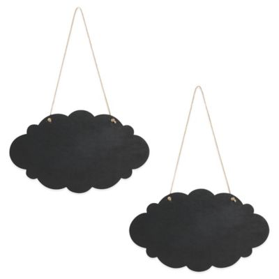 Ivy Lane Design™ Cloud Chalkboard Signs with Jute (Set of 2)