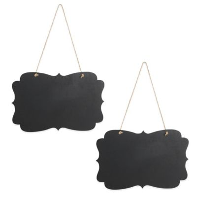 Ivy Lane Design™ Fanciest Chalkboard Sign with Jute (Set of 2)