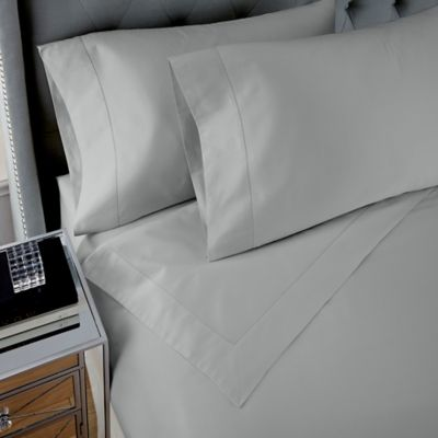 Waterford Couture® Luxury Italian-Made Egyptian Cotton Pippa Ogee King Sheet Set in Silver