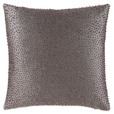 Waterford Couture® Luxury Italian-Made Ogee Square Beaded Throw Pillow
