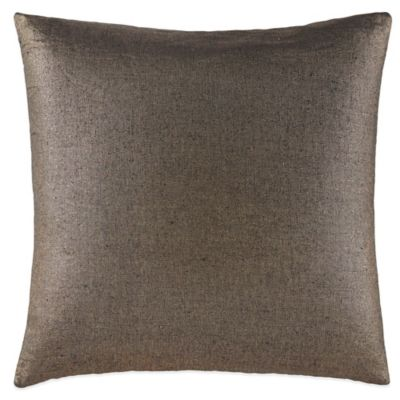 Waterford Couture® Luxury Italian-Made Trentino Metallic Square Throw Pillow in Ash Grey