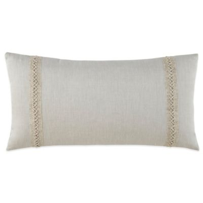 Waterford Couture® Luxury Italian-Made Lino Oblong Throw Pillow in Natural