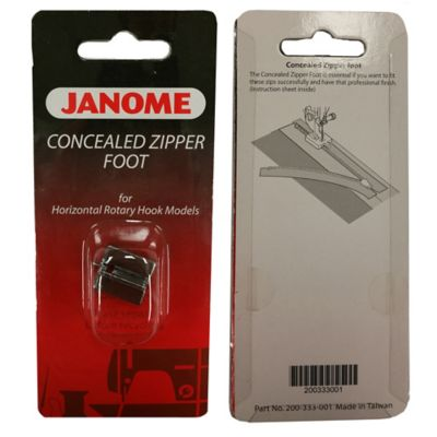 New Home Concealed Zipper Foot for Horizontal Rotary Hook Sewing Machines