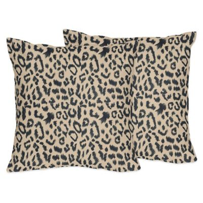 Sweet Jojo Designs Animal Safari Throw Pillows (Set of 2)