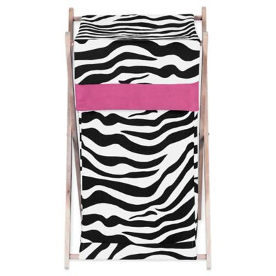 Sweet Jojo Designs Funky Zebra Hamper in Pink