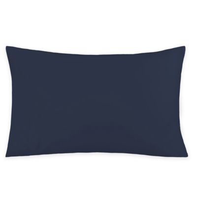 250-Thread-Count 25-Inch x 14-Inch Cotton Percale Queen Standard Contour Foam Pillowcase in Navy