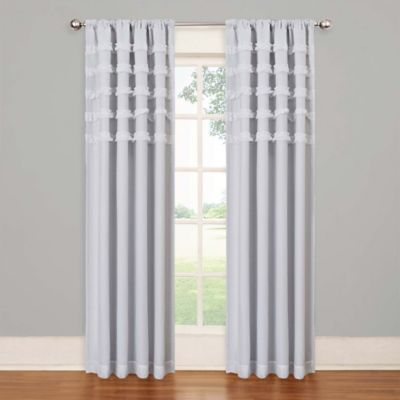 Insola Rihanna Rod Pocket 63-Inch Blackout Window Curtain Panel in Grey