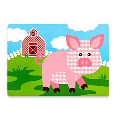 Sam Hedaya Kids Pig Placemat