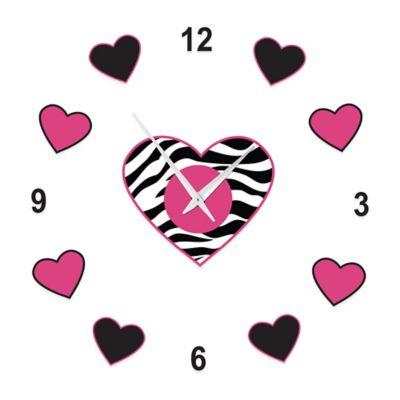 Sweet Jojo Designs Funky Zebra Do-it-Yourself Clock in Pink