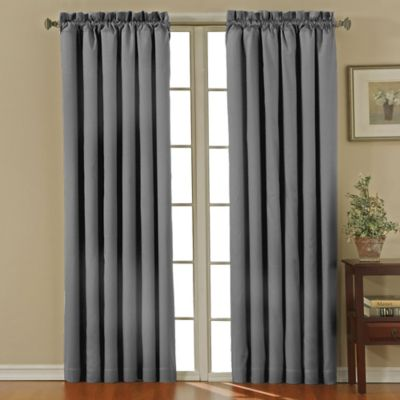 Insola Carmen Rod Pocket 95-Inch Blackout Window Curtain Panel in Grey