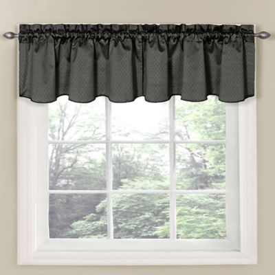 Insola Carmen Window Curtain Valance in Grey