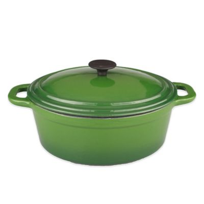 BergHOFF® Neo 8 qt. Cast Iron Covered Casserole in Green with Black Knob
