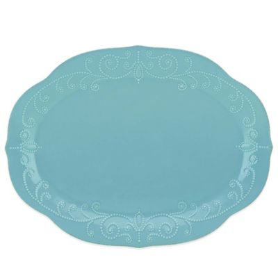 Lenox® French Perle Oval Platter in Robins Egg