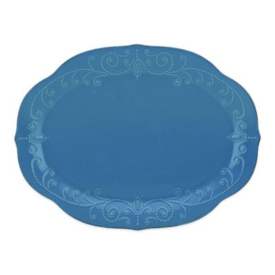 Lenox® French Perle Oval Platter in Marine Blue