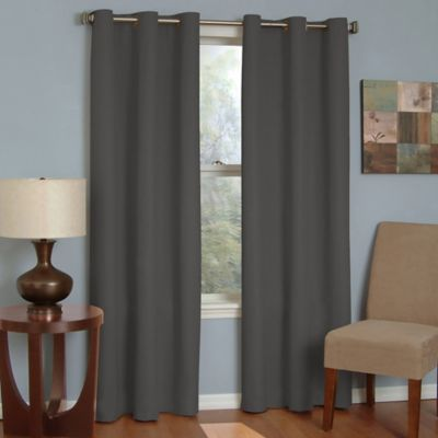 Insola Mandalay Grommet 63-Inch Blackout Window Curtain Panel in Charcoal
