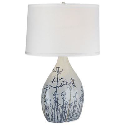 Ocean Fantasy Table Lamp in Grey with Linen Shade