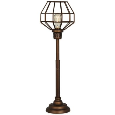 Malthus Uplight Table Lamp in Oil Rubbed Bronze with Metal Shade