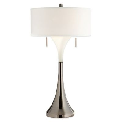 Chrome Table Lamp With Black Shade