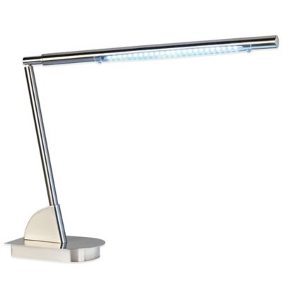 48-Light LED Work Station Base Desk Lamp in Brushed Nickel