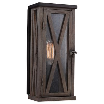 Feiss® Dark Weathered Outdoor Wall Lantern in Oil Rubbed Bronze with CFL Bulb