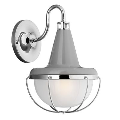 Feiss® High Gloss Outdoor Wall Lantern in White Polished Nickel