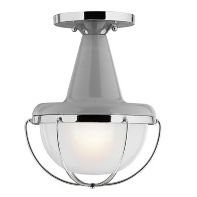 Feiss® High Gloss Outdoor Lantern in Grey Polished Nickel