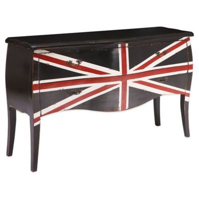 Zuo® Union Jack Large Cabinet in Distressed Black