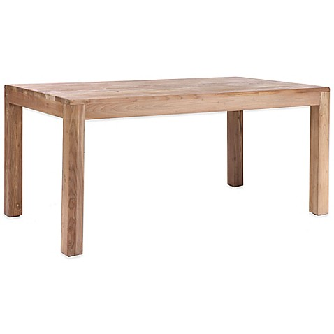 Zuo Fillmore Dining Table In Distressed Natural Bed Bath Beyond