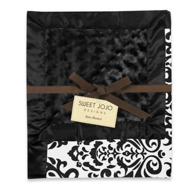 Sweet Jojo Designs Isabella Blanket in Black/White