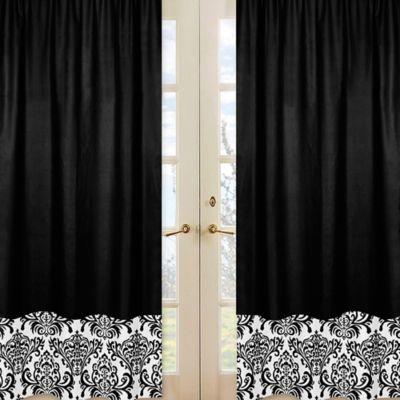 Sweet Jojo Designs Isabella Window Panel Pair in Black/White