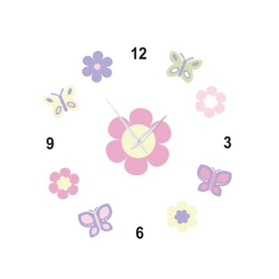 Sweet Jojo Designs Butterfly Do-it-Yourself Clock in Pink/Purple