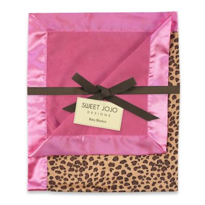 Sweet Jojo Designs Cheetah Girl Baby Blanket