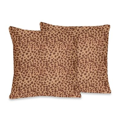 Sweet Jojo Designs Cheetah Girl Throw Pillow (Set of 2)