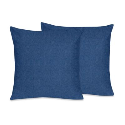 Sweet Jojo Designs Cowgirl Throw Pillow in Blue Denim (Set of 2)