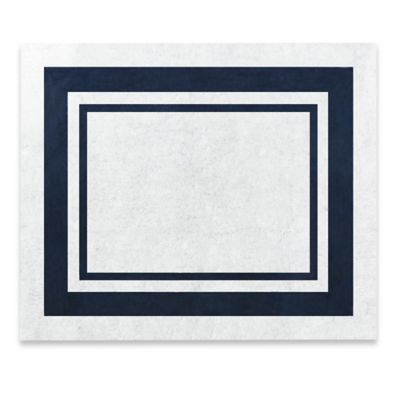 Sweet Jojo Designs Hotel 36-Inch x 30-Inch Accent Rug in White/Navy