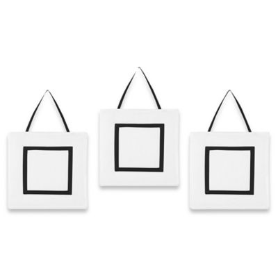 Sweet Jojo Designs Hotel Wall Decor in White/Black (Set of 3)