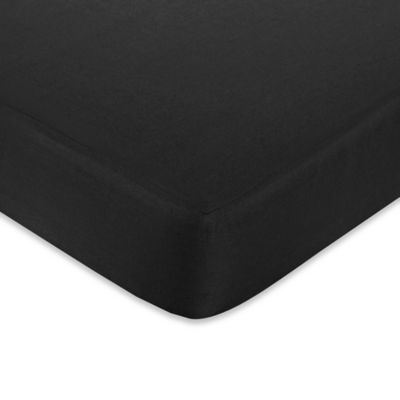 Sweet Jojo Designs Hot Dot Fitted Crib Sheet in Black