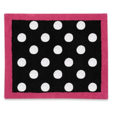 Sweet Jojo Designs Hot Dot 36-Inch x 30-Inch Accent Rug