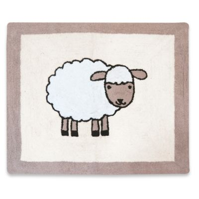 Sweet Jojo Designs Little Lamb 36-Inch x 30-Inch Accent Rug