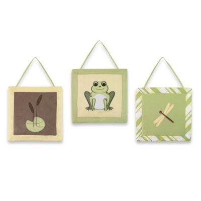 Sweet Jojo Designs Leap Frog Wall Hangings (Set of 3)
