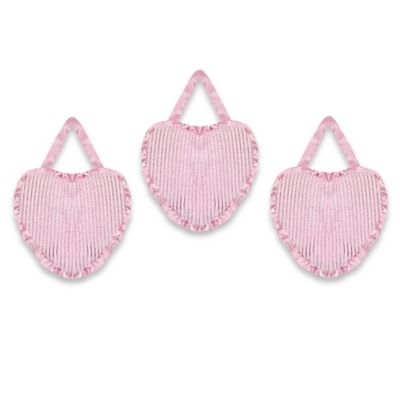Sweet Jojo Designs Pink Chenille and Satin Wall Decor